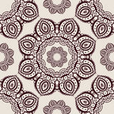 Lace. Hand drawn seamless pattern. Royalty Free Stock Photo