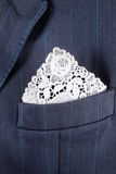 Lace handkerchief Stock Photos