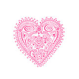 Lace Heart. Design element with lacy heart in doily style. The two sides of the heart are not identical because it was drawn by hand Royalty Free Stock Photography