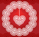 Lace heart 2 Stock Photos
