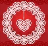 Lace heart 2 Stock Photos