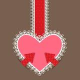 Lace Heart Royalty Free Stock Photos