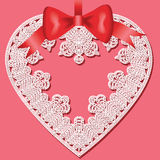Lace heart Stock Photo