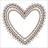 Lace heart frame. Stock Images