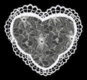 Lace heart isolated on black Royalty Free Stock Photo