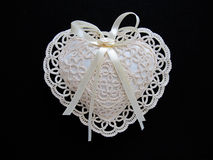 Lace heart pillow Royalty Free Stock Photography