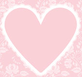 Lace heart Stock Images