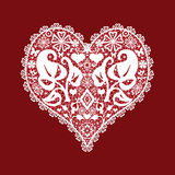 Lace heart valentines greeitng card Stock Photography
