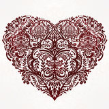 Lace heart vector art. Stock Photos