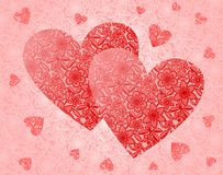 Lace hearts vector illustration