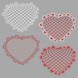 Lace hearts Stock Photography