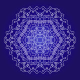 Lace hexagonal ornament Stock Images
