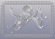 Lace illustration with Amur 2 Royalty Free Stock Photo