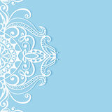 Lace Invitation Card, floral and geometric. Background Royalty Free Stock Image