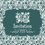 Lace invitation Stock Photos