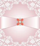 Lace and jewelry Royalty Free Stock Images