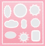Lace labels Royalty Free Stock Images