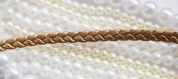 Lace leather Golden Stock Image