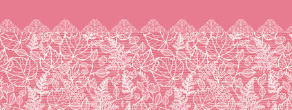 Lace leaves horizontal seamless pattern background Royalty Free Stock Image
