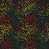Lace of leaves  Seamless Pattern Royalty Free Stock Images