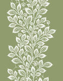 Lace leaves vertical seamless pattern. Stock Photography