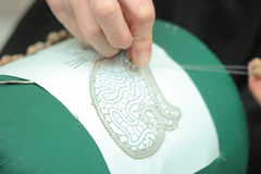 Lace-making Royalty Free Stock Images