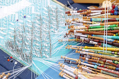 Lace making hobby Stock Images