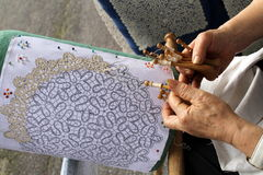 Lace making Royalty Free Stock Photography