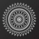 Lace mandala design pattern vector Stock Photos