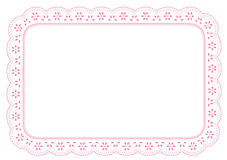 lace mat pinkeyelet place 图库摄影