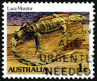 Lace Monitor Australian Postage Stamp Royalty Free Stock Photos