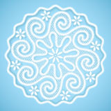 Lace napkin with round ornate center, vintage background in Russian style Stock Photo