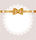 Lace Napkin With Bow Stock Image