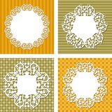 Vector backgrounds with napkins Royalty Free Stock Photography