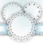 Lace Napkins On White Stock Image