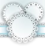 Lace napkins on white Stock Image
