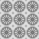 Lace of openwork squares. Vector illustration Stock Photo
