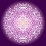 Lace ornament. Circular pattern, vector image Stock Image