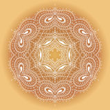 Lace ornament. Circular pattern, vector image Royalty Free Stock Photography