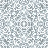 Lace ornament, cutout paper pattern. Swirly lace texture, cutout paper ornament, seamless pattern in neutral color royalty free illustration