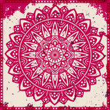 Lace ornament on grunge background Stock Images