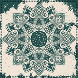 Lace ornament on grunge background. Vector illustration stock illustration