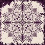 Lace ornament on grunge background. Vector illustration Stock Photos
