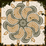 Lace ornament on grunge background. Vector illustration royalty free illustration