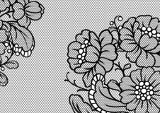 Lace ornamental background with flowers. Vintage fashion textile vector illustration