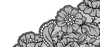 Lace ornamental background with flowers. Vintage fashion textile stock illustration