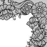 Lace ornamental background with flowers. Vintage fashion textile royalty free illustration
