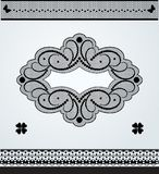 Lace ornamental frame and lace borders Royalty Free Stock Photo