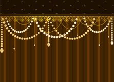Lace ornaments and beads Royalty Free Stock Photo
