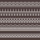 Lace ornaments borders. Lace ornaments, borders. Seamless pattern Royalty Free Stock Photos